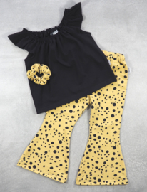 Kleine Baasjes Organic - Flared Pants Dots Gold