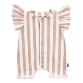 Kleine Baasjes Organic - Baby Summer Jumpsuit Vertical Pink