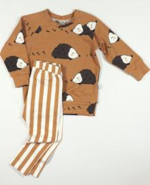 Kleine Baasjes Organic - Raglan Sweater Hedgehog Toffee