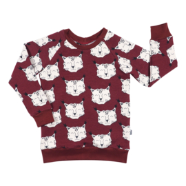 Kleine Baasjes Organic - Raglan Sweater Lynx Wine