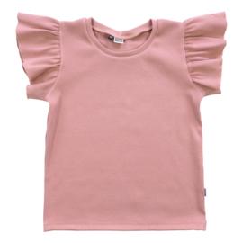 Kleine Baasjes Organic - Ruffle Top Rib Blush Pink