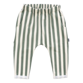 Kleine Baasjes Organic - Loungebroek Vertical Green & Cream