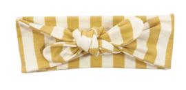 Kleine Baasjes - geknoopte haarband Vertical Gold & Cream
