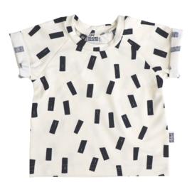 Kleine Baasjes Organic - Raglan Shirt Confetti Black/Cream