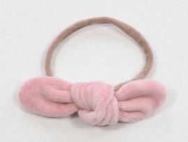 Kleine Baasjes Organic - Haarstrikje Velours Pink