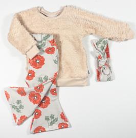 Kleine Baasjes Organic - Flared Pants Poppy Flower Desert