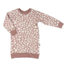 Kleine Baasjes Organic - Sweaterdress Mini Flower Pink