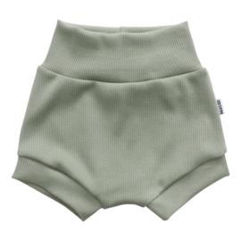 Kleine Baasjes Organic - Baby Shorts Rib Green
