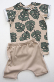 Kleine Baasjes Organic - Raglan Shirt Monstera