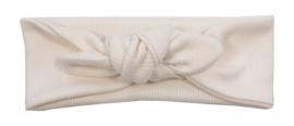 Kleine Baasjes - geknoopte haarband Rib Cream