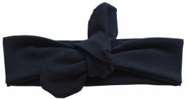 Kleine Baasjes Basic - geknoopte haarband zwart