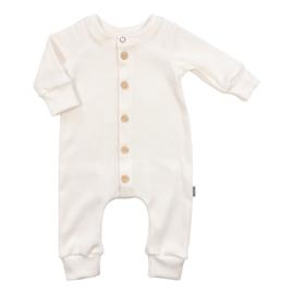 Kleine Baasjes NEWBORN - Baby Jumpsuit Rib Cream