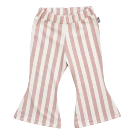 Kleine Baasjes Organic - Flared Pants Vertical Rose