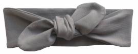 Kleine Baasjes Basic - geknoopte haarband grijs