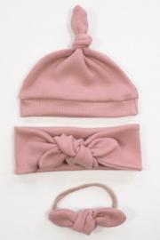 Kleine Baasjes NEWBORN - Baby Jumpsuit Rib Pink