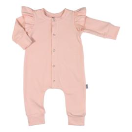 Kleine Baasjes Organic - Baby Ruffle Jumpsuit Dusty Pink