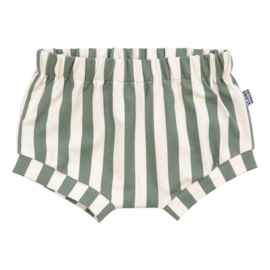 Kleine Baasjes Organic - Baby Shorts Vertical Green&Cream