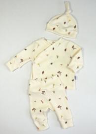 Kleine Baasjes NEWBORN - Broekje Mini Forest Rib Cream