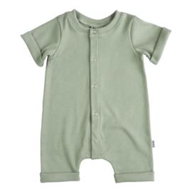 Kleine Baasjes Organic - Baby Summer Jumpsuit Rib Green