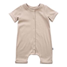 Kleine Baasjes Organic - Baby Summer Jumpsuit Rib Cappuccino