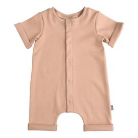 Kleine Baasjes Organic - Baby Summer Jumpsuit Rib Camel
