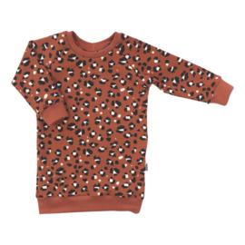 Kleine Baasjes Organic - Sweaterdress Lynx Dots Rusty