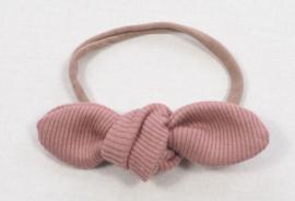 Kleine Baasjes Organic - Haarstrikje Rib Pink