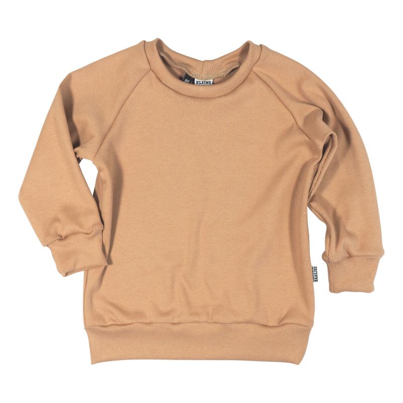 Kleine Baasjes Organic - Raglan Sweater Camel Rib