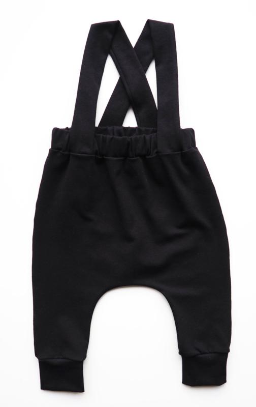 Kleine Baasjes Organic - Suspender Harempants Black