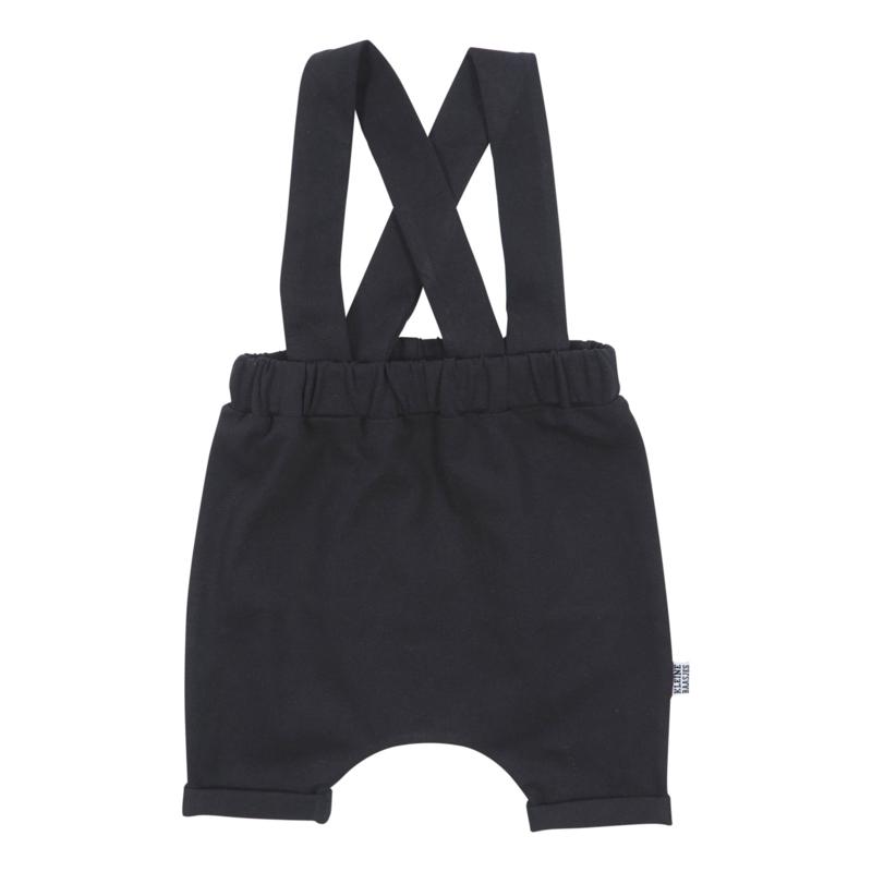 Kleine Baasjes Organic - Suspender Haremshorts Black