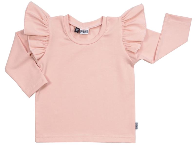 Kleine Baasjes Organic - Ruffle top Dusty Pink
