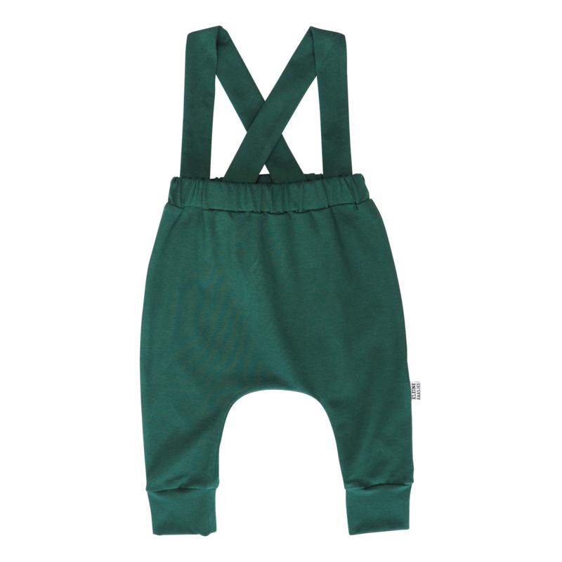 Kleine Baasjes Organic - Suspender Harempants Evergreen