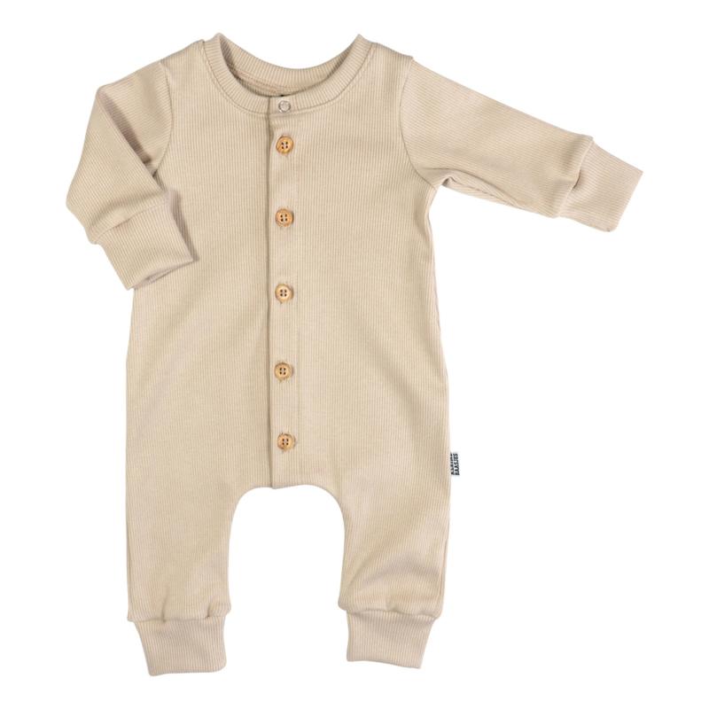Kleine Baasjes NEWBORN - Baby Jumpsuit Rib Cappuccino