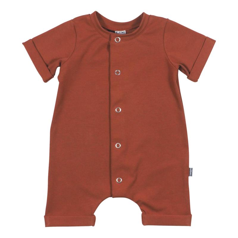 Kleine Baasjes Organic - Baby Summer Jumpsuit Rusty