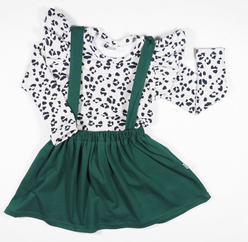 Kleine Baasjes Organic - Suspender Skirt Evergreen