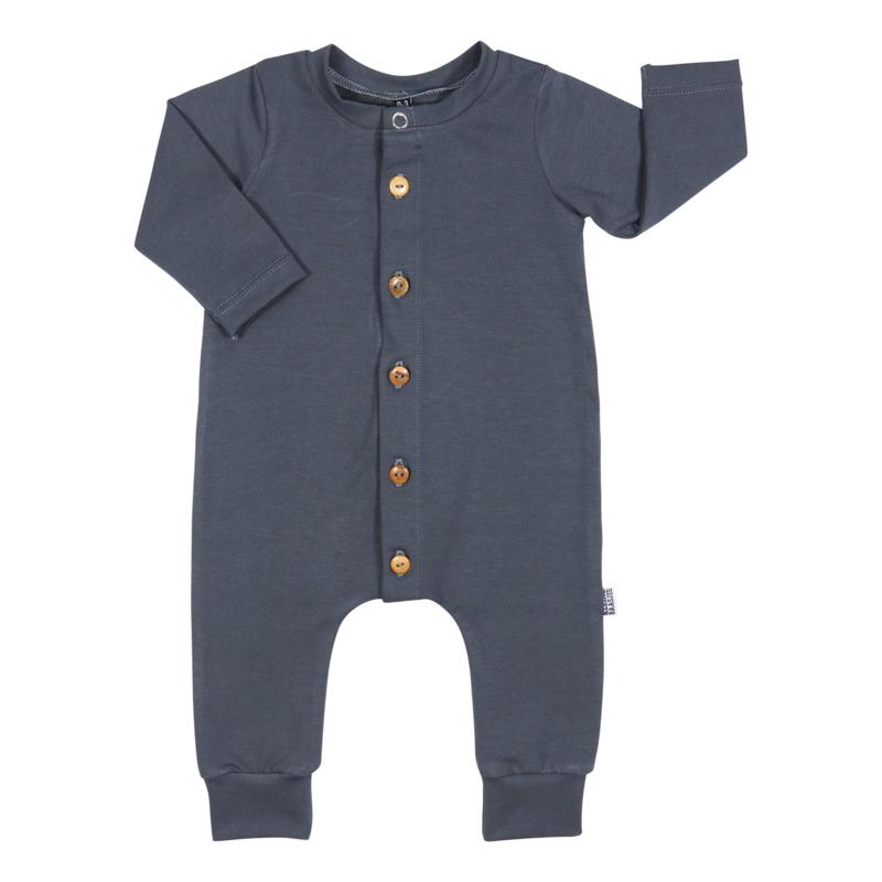 Kleine Baasjes Organic - Baby Jumpsuit Dark Grey
