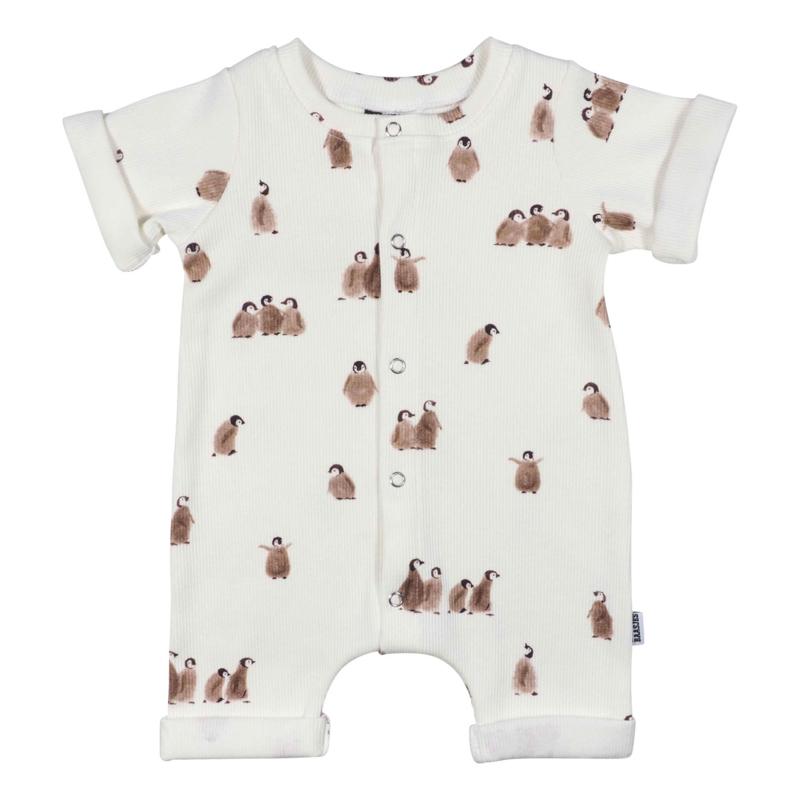 Kleine Baasjes Organic - Baby Summer Jumpsuit Penguin