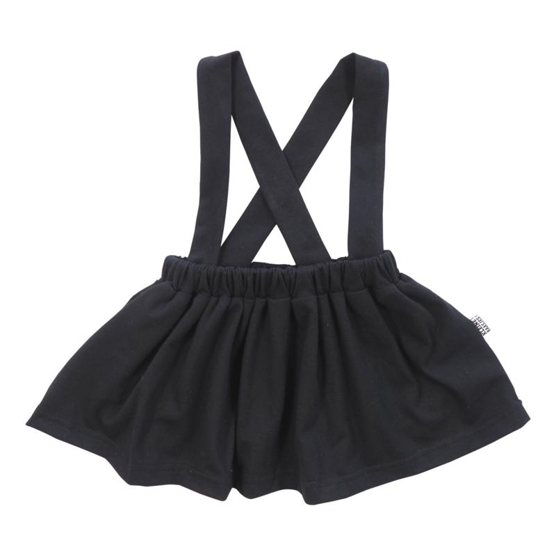 Kleine Baasjes Organic - Suspender Skirt Black