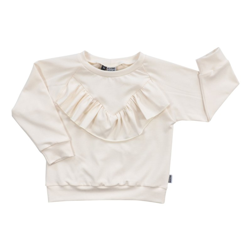 Kleine Baasjes Organic - Sweater Ruffled Cream