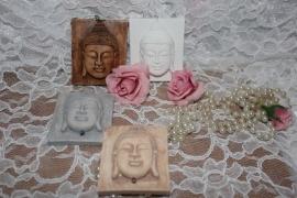Rustiek geursteen boeddha hoofd
