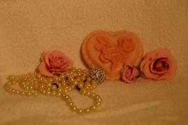 hart romantisch met rozen