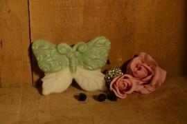 vlinder in twee kleuren