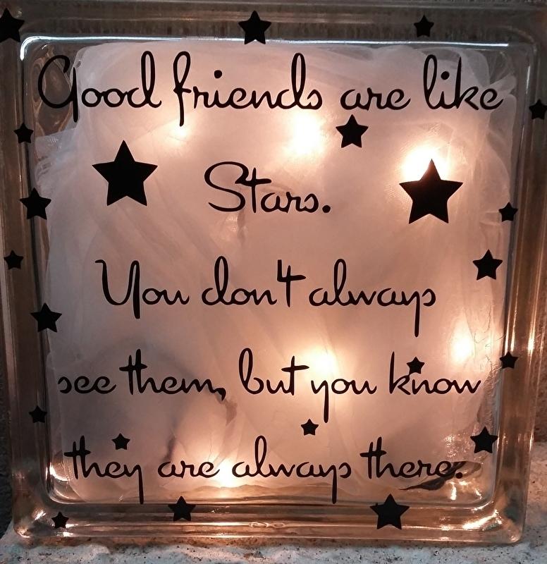 Glasblok Good friends