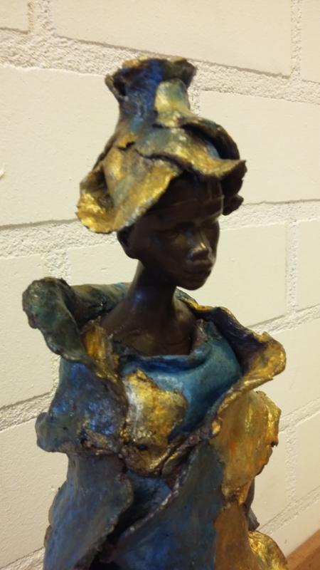 Africa dame van klei