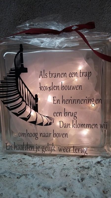 Glasblok Als tranen een trap