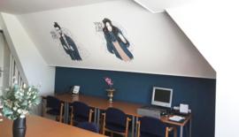 Muurschilderingen trainingsruimte voor TCI