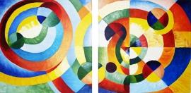 Schilderij Cirkels 2-luik