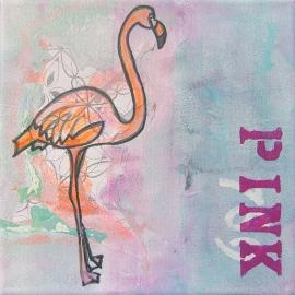 Schilderij Flamingo