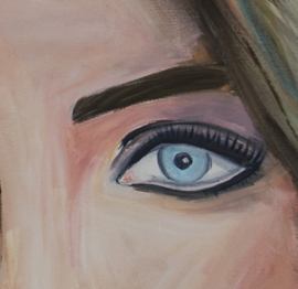 Schilderij Scandinavian Woman