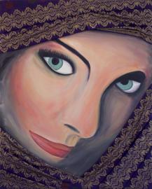Schilderij Iraanse Vrouw